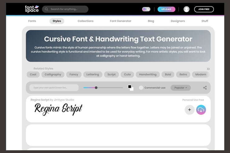 convert english to cursive 6