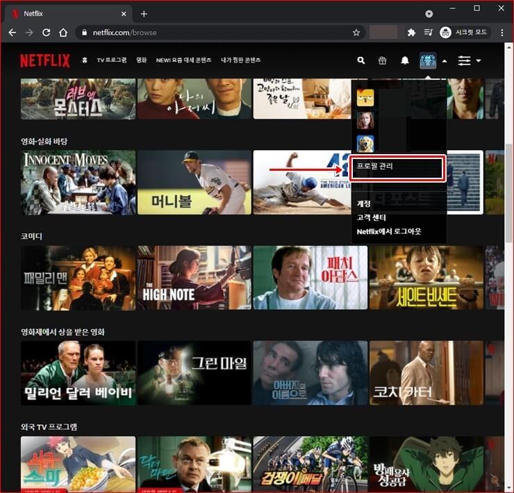 Delete Netflix profile 5